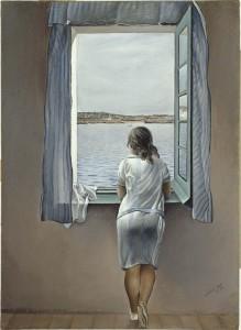 """""""Muchacha en la ventana"""", Salvador Dalí"""